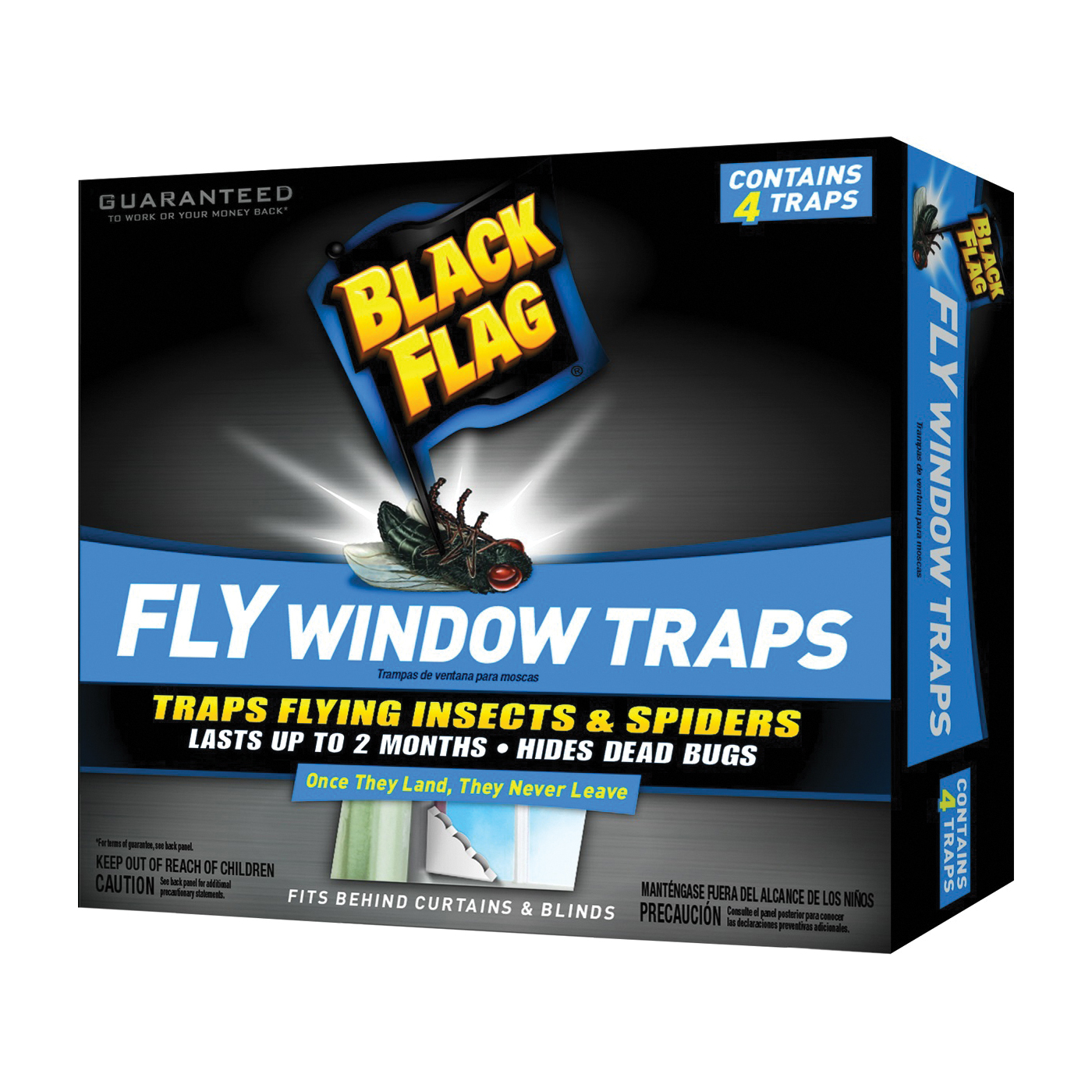 Picture of Black Flag HG-11017 Fly Window Trap, Solid, 1 Package, Pack