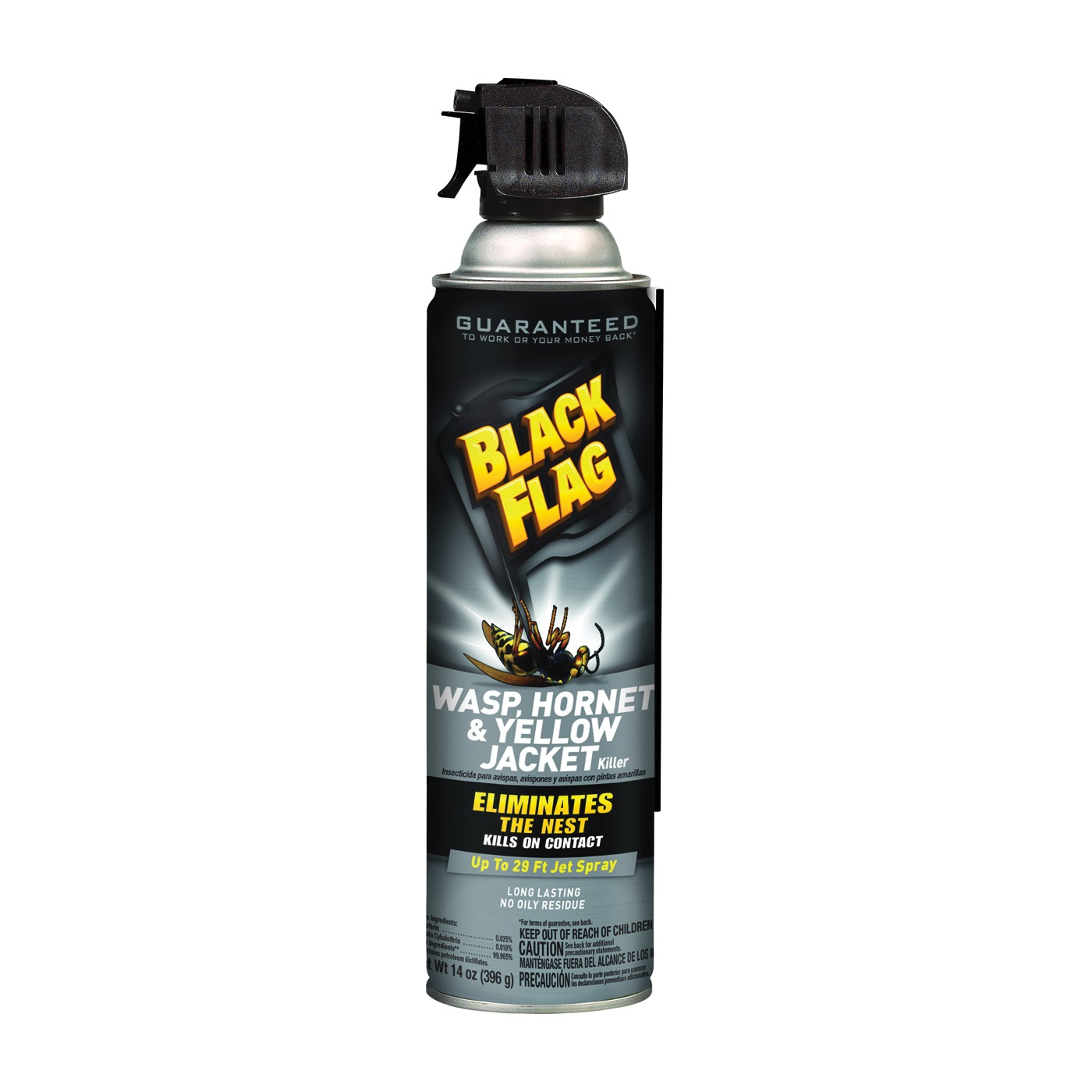 Picture of Black Flag HG-11036 Hornet and Yellow Jacket Killer, Liquid, Spray Application, 14 oz Package, Aerosol Can