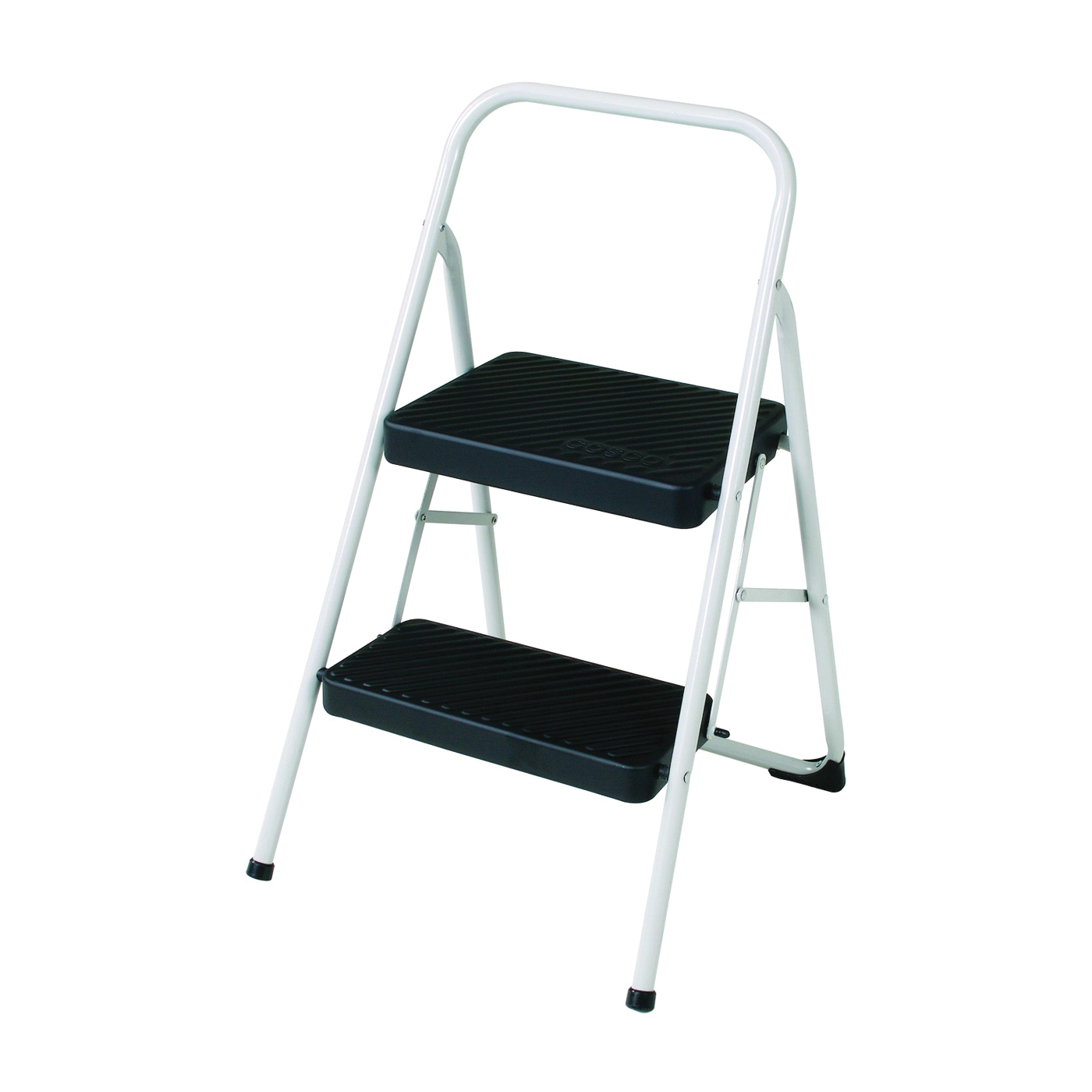 Picture of Cosco 11135CLGG4 Folding Step Stool, 28.15 in H, 200 lb, Steel, Black