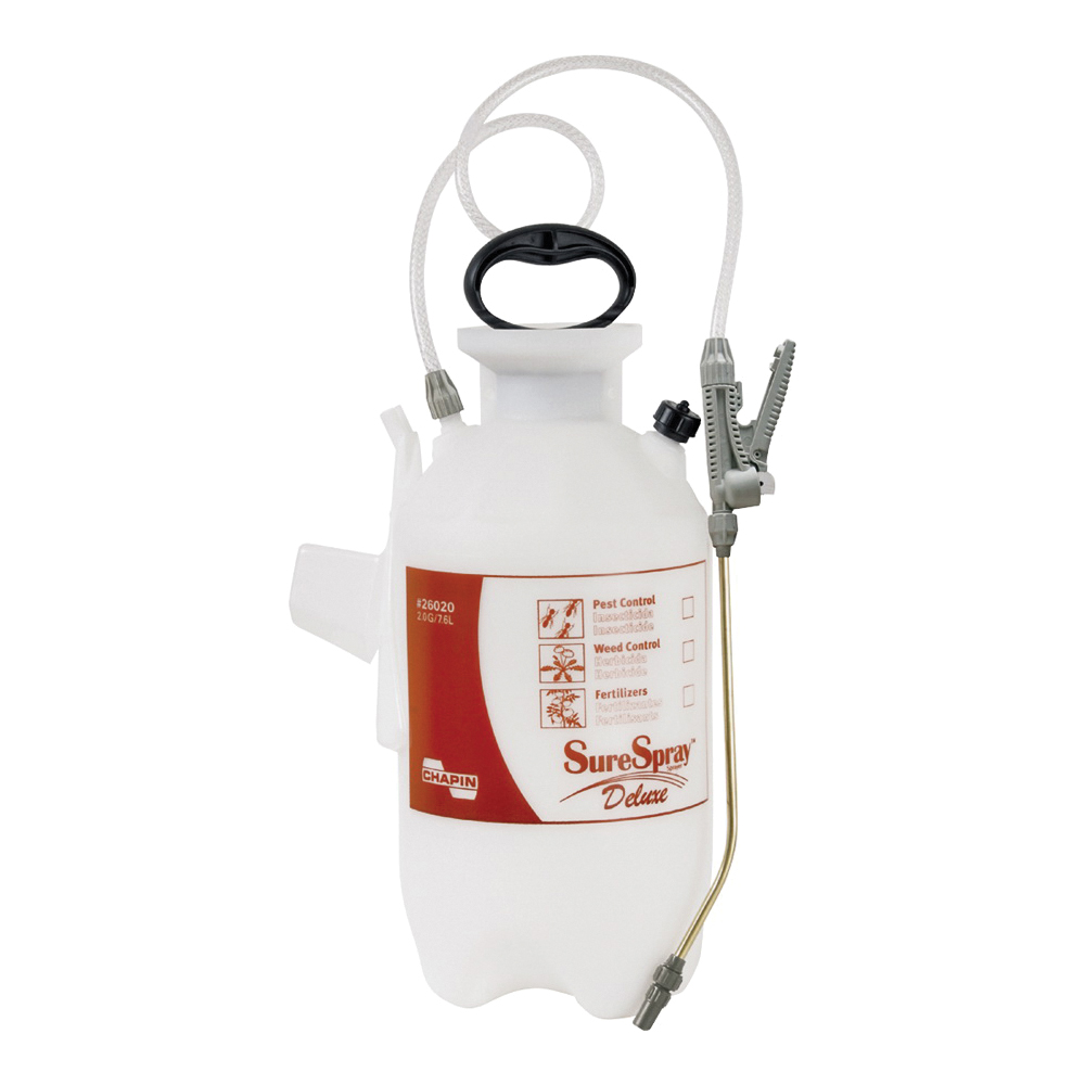 Picture of CHAPIN SureSpray 26020 Compression Sprayer, 2 gal Tank, Poly Tank, 34 in L Hose