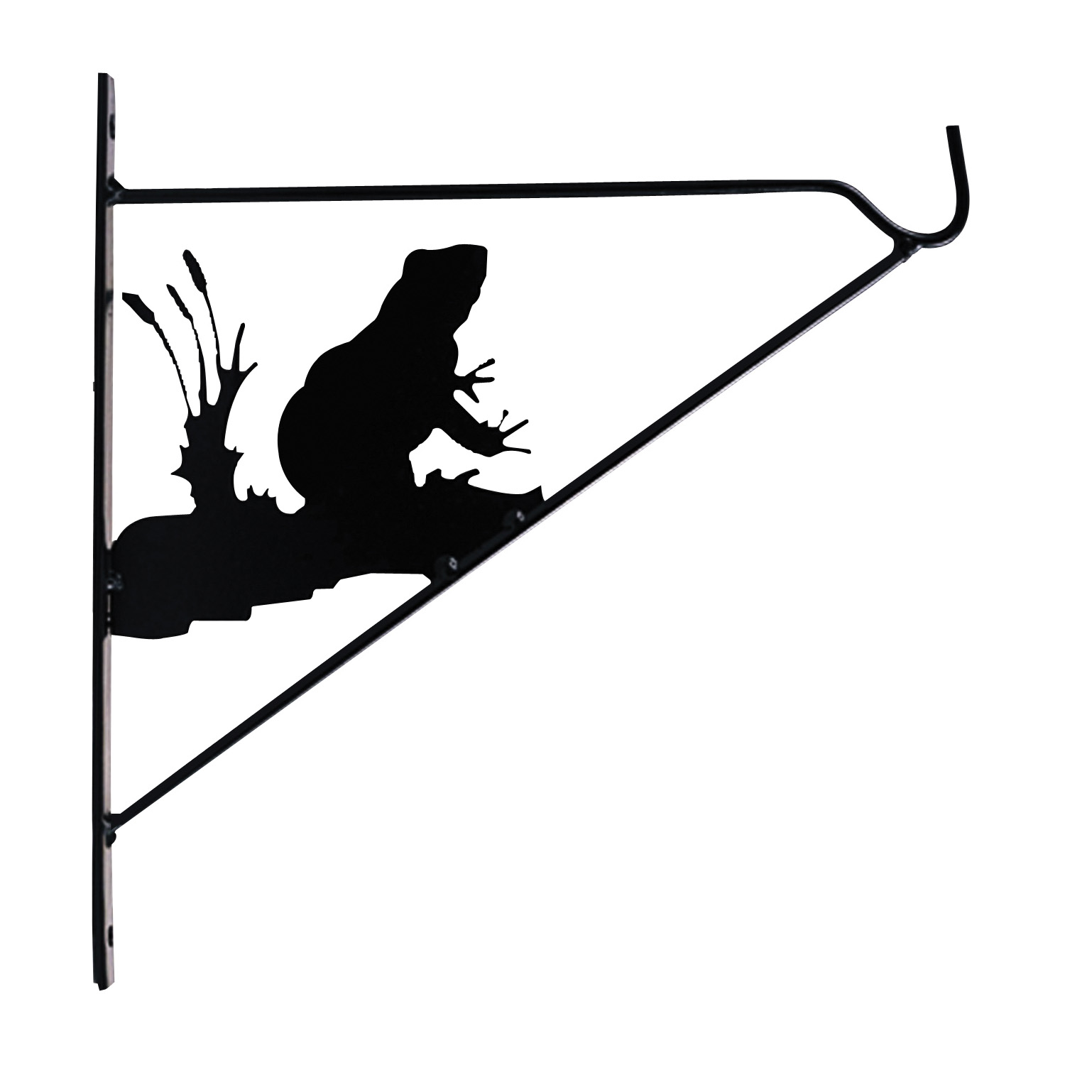 Picture of Landscapers Select GF-3059 Plant Bracket, 11 in L, Steel, Black, Matte Black, Wall Mount Mounting