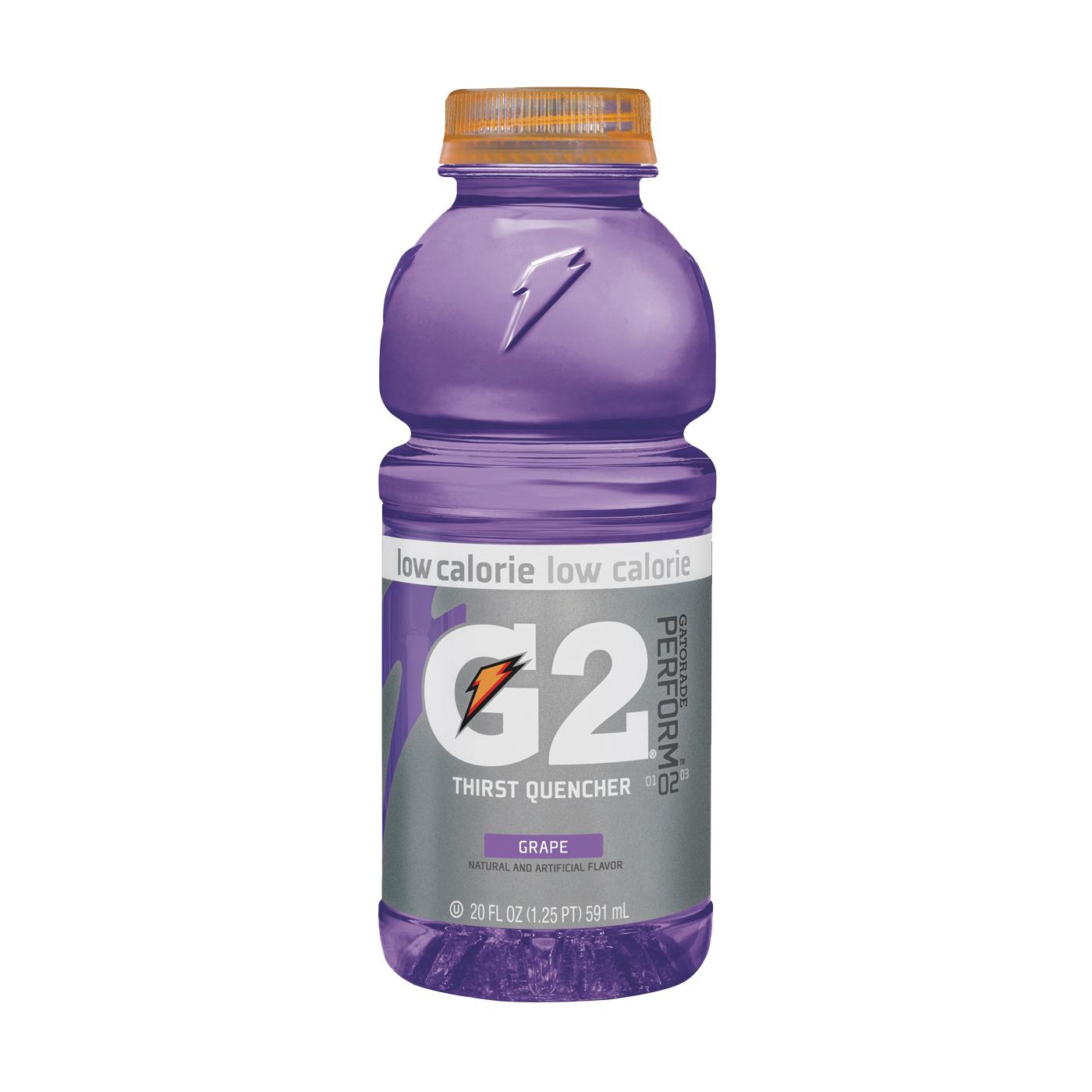 Picture of Gatorade G2 20406 Thirst Quencher Sports Drink, Liquid, Grape Flavor, 20 oz Package, Bottle