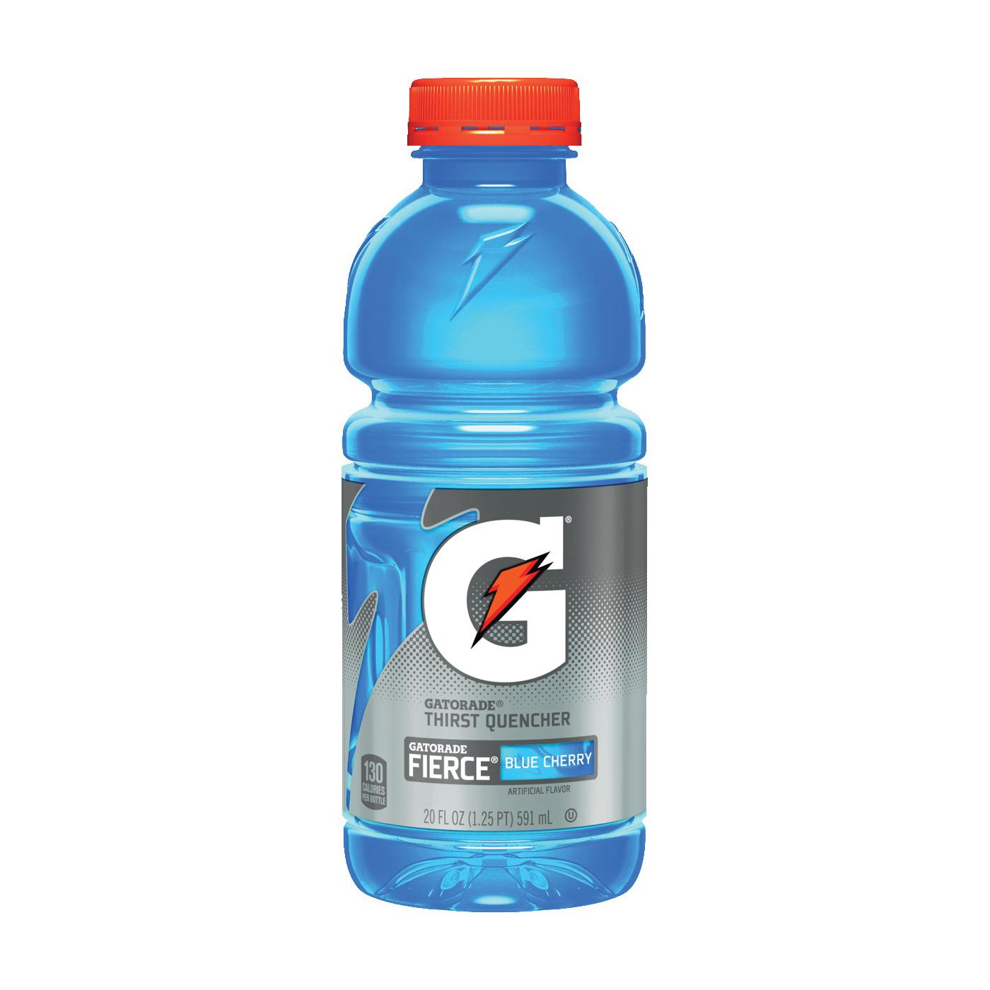 Picture of Gatorade G 10412 Thirst Quencher Sports Drink, Liquid, Fierce Blue Cherry Flavor, 20 oz Package, Bottle