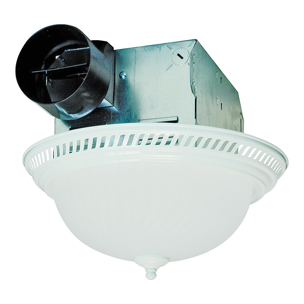 Picture of Air King DRLC703 Exhaust Fan, 1.6 A, 120 V, 70 cfm Air, 4 Sones, Fluorescent Lamp, 4 in Duct, White