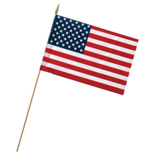 Picture of Valley Forge USE4D USA Stick Flag Display, Polycotton