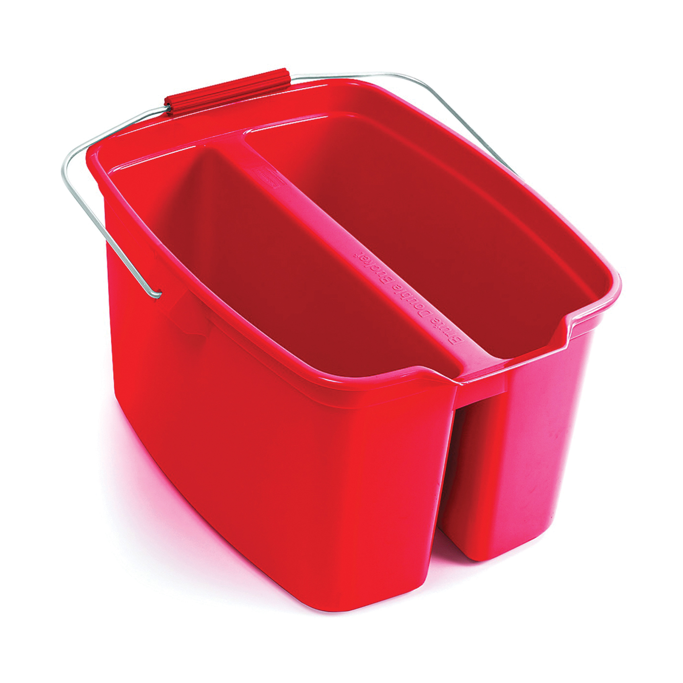 Picture of Rubbermaid 1887094 Double Pail, 19 qt Capacity, Plastic Wringer, Red