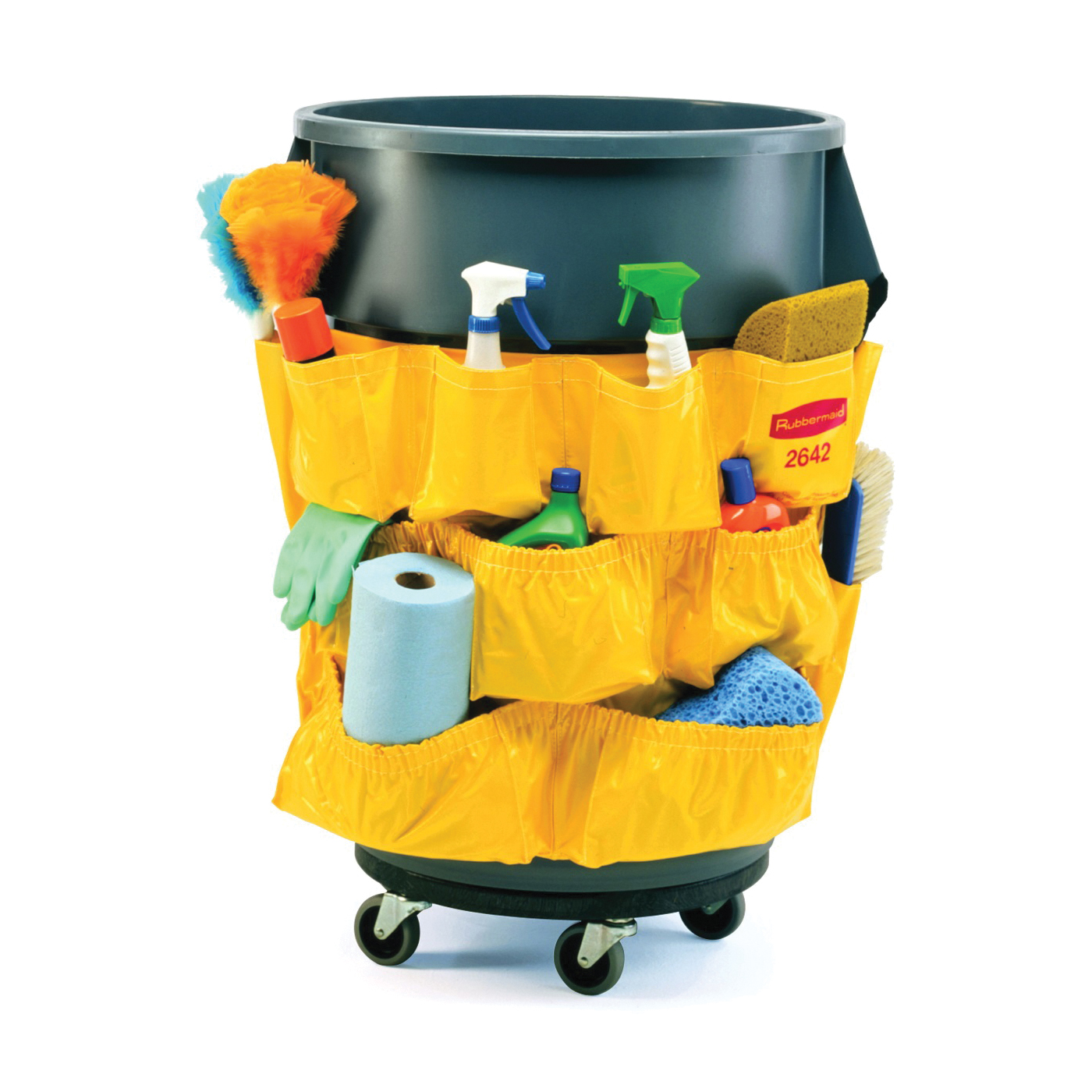 Picture of Rubbermaid Brute FG264200YEL Caddy Bag Container, Vinyl Blade