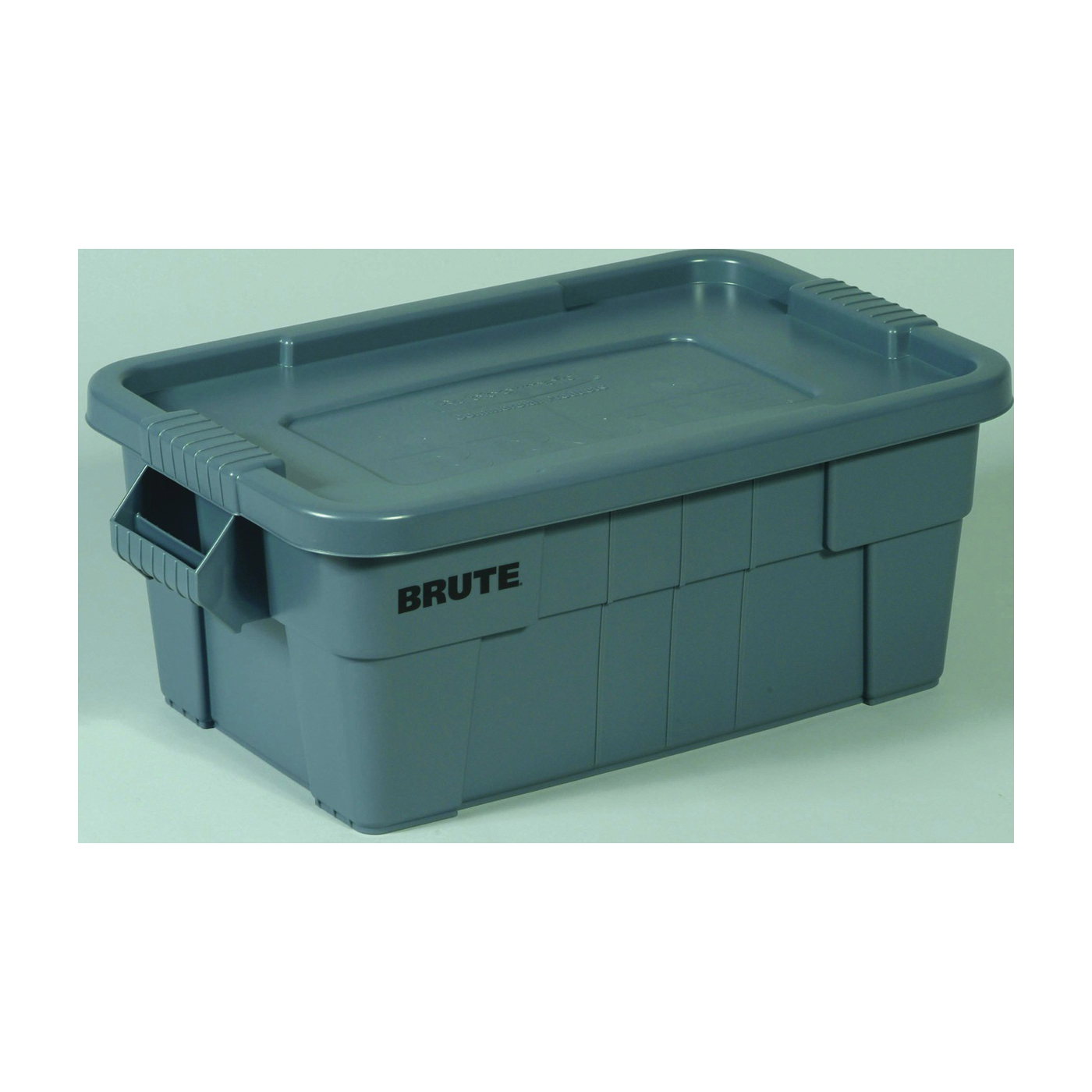 Picture of Rubbermaid Brute 1836781 Storage Tote with Lid, Gray, 27-7/8 in L, 17-3/8 in W, 15 in H