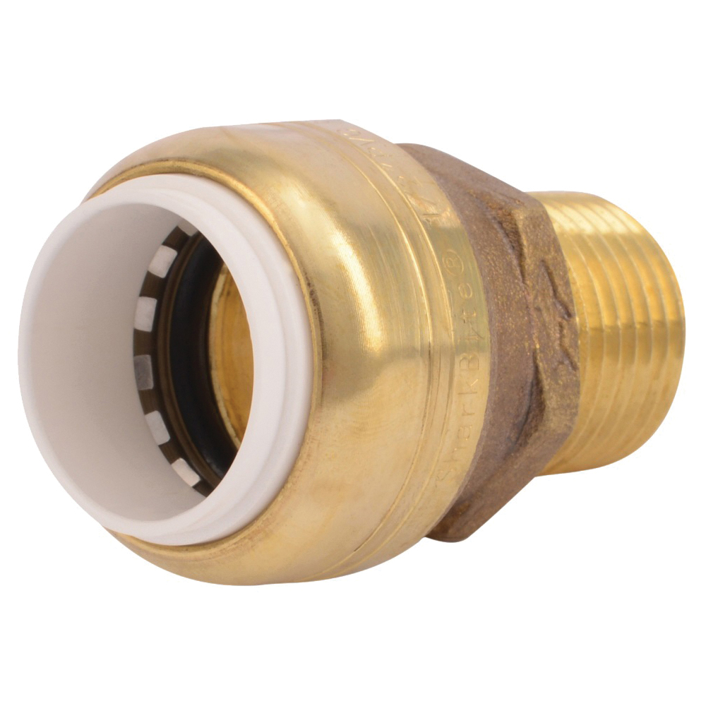 Picture of SharkBite UIP120A Connector, 1/2 in Push-Fit, 1/2 in MNPT