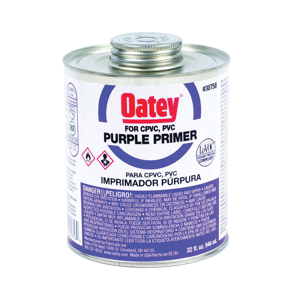 Picture of Oatey 30758 Primer, Liquid, Purple, 32 oz Package