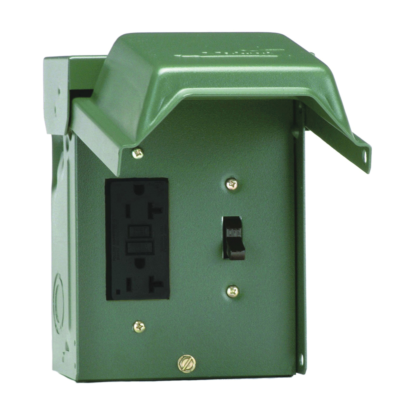 Picture of GE Industrial Solutions U010S010GRP Power Outlet, 20 A, 120 V, Green