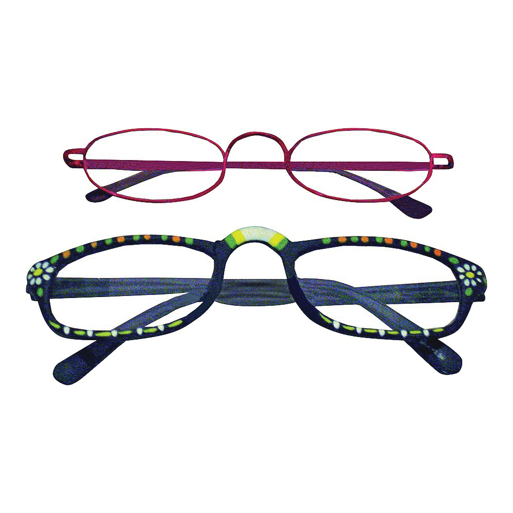 Picture of Diamond Visions RG-399 Reading Glasses, Unisex, 1 to 4 Magnification, Metal/Plastic Frame, Metal/Plastic Frame
