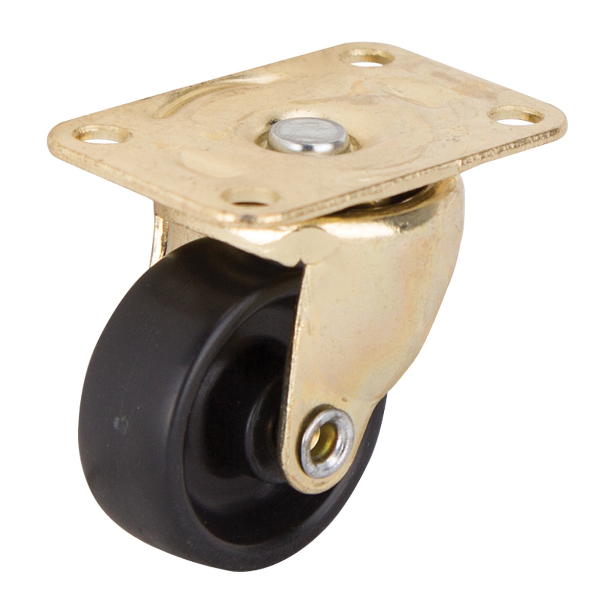 Picture of ProSource JC-B02-PS Swivel Caster, 1-1/4 in Dia Wheel, Hard Plastic Wheel, Black, 40 lb