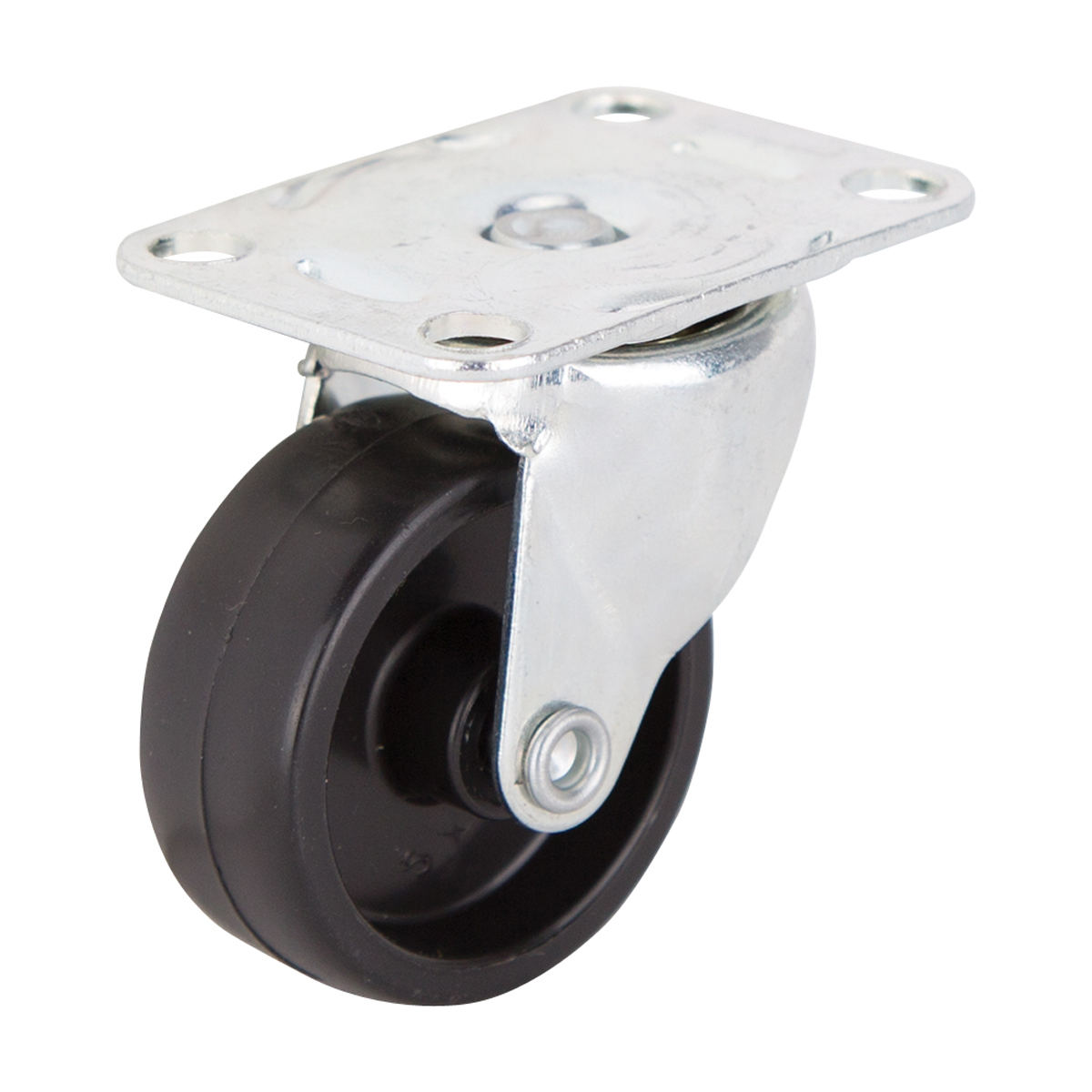 Picture of ProSource JC-B09-PS Swivel Caster, 1-5/8 in Dia Wheel, Hard Plastic Wheel, Black, 40 lb