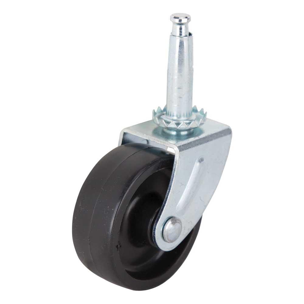 Picture of ProSource JC-B22-PS Swivel Caster, 2 in Dia Wheel, Plastic Wheel, Black, 60 lb