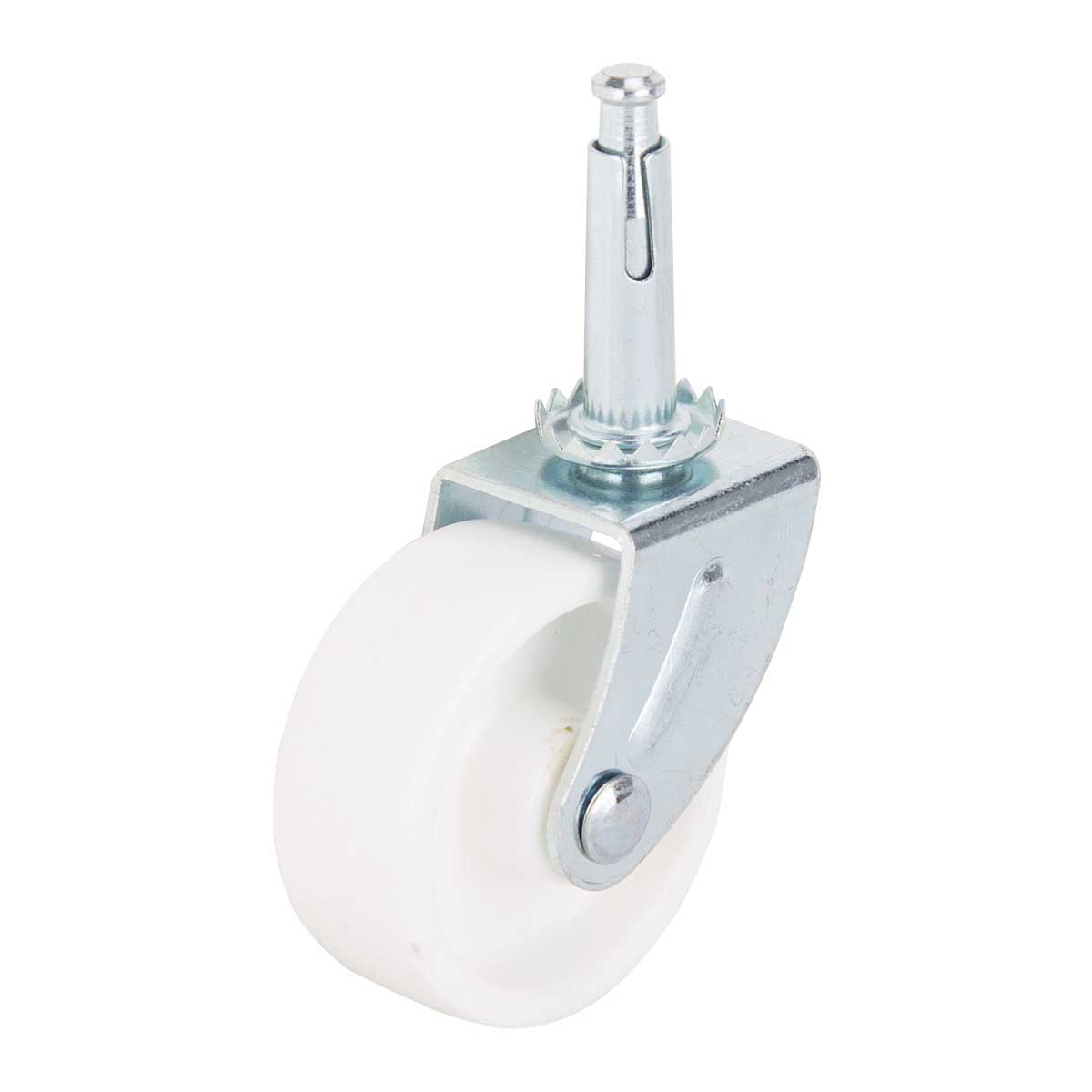 Picture of ProSource JC-B24-PS Swivel Caster, 2 in Dia Wheel, Hard Plastic Wheel, White, 60 lb