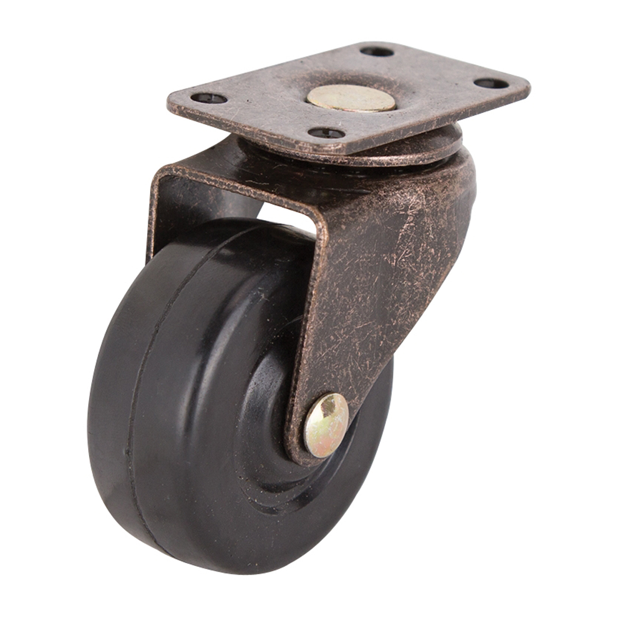 Picture of ProSource JC-D06-PS Swivel Caster, 2 in Dia Wheel, Rubber Wheel, Black, 90 lb