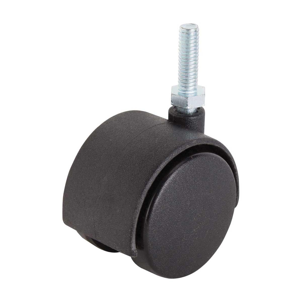 Picture of ProSource JC-F08-PS Caster, 2 in Dia Wheel, Nylon Wheel, Black, 75 lb