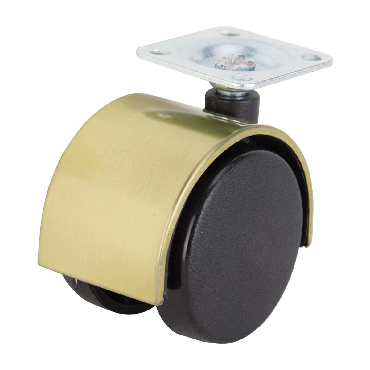 Picture of ProSource JC-F12-PS Caster, 2 in Dia Wheel, Nylon Wheel, Black, 75 lb