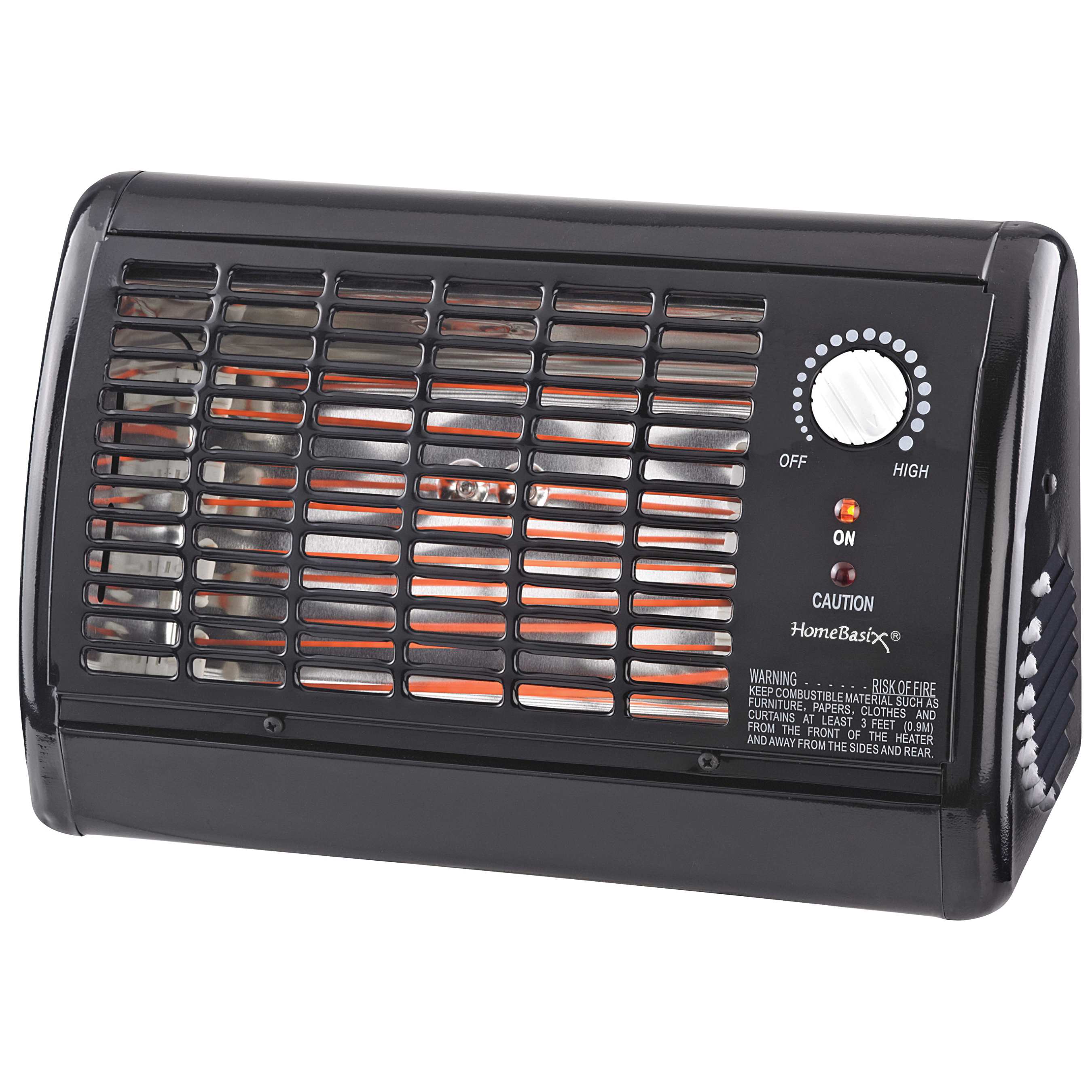Picture of PowerZone QGW15-601 1320W Radiant Heater Black, 11 A, 120 V, 1320 W, 1320 W Heating, 1-Heating Stage, Black
