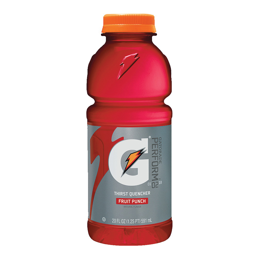 Picture of Gatorade G 32866 Thirst Quencher Sports Drink, Liquid, Fruit Punch Flavor, 20 oz Package, Bottle