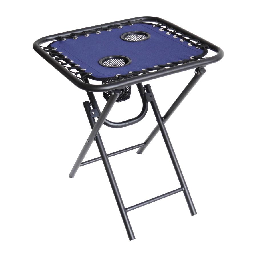 Picture of Seasonal Trends T5S18FR1BKOX60 Folding Table, 18 in OAW, 18 in OAD, 21-1/2 in OAH, Steel Frame, Fabric Tabletop