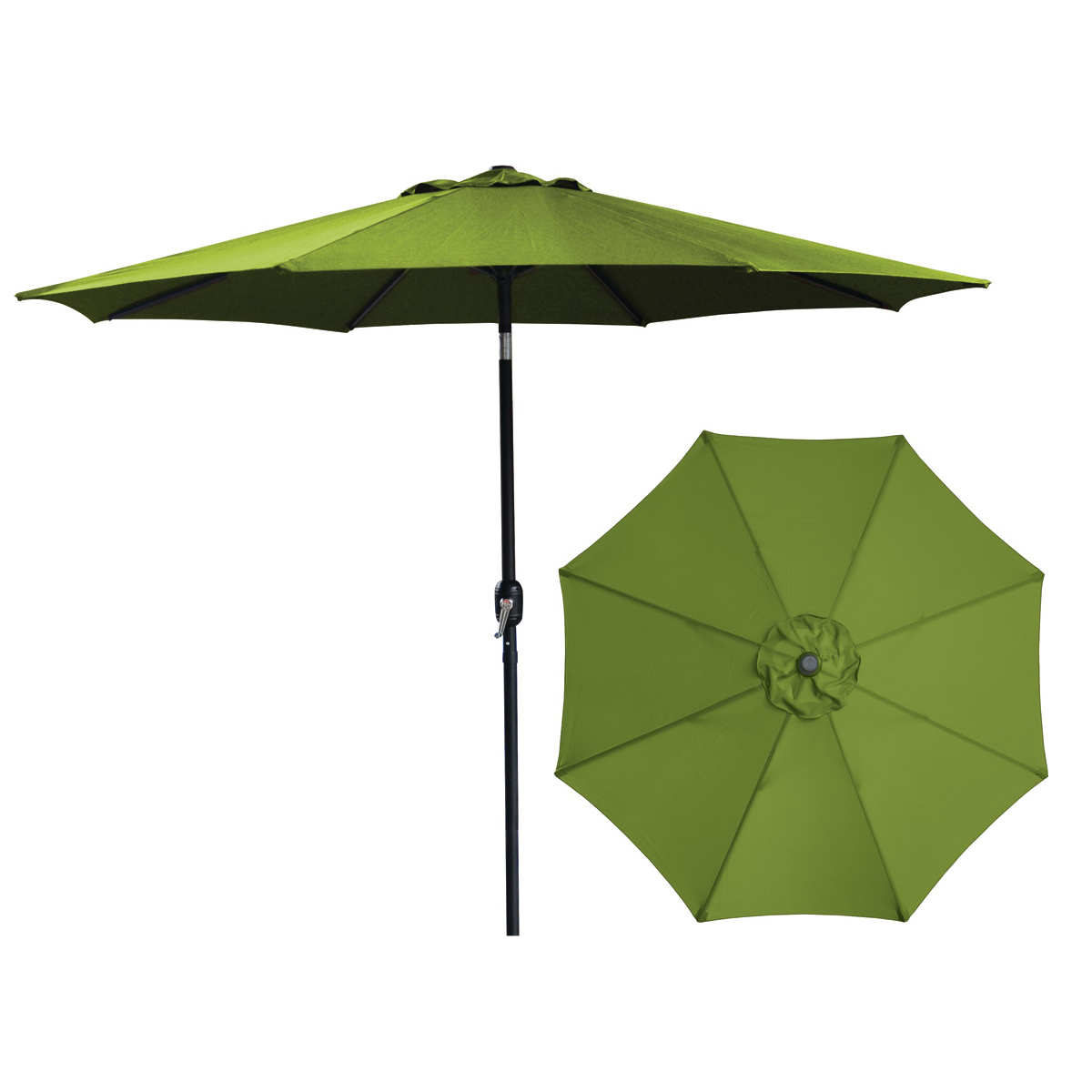 Picture of Seasonal Trends 62105 Crank Umbrella, 92.9 in H, 107.9 in W Canopy, 107.9 in L Canopy, Round Canopy, Steel Frame
