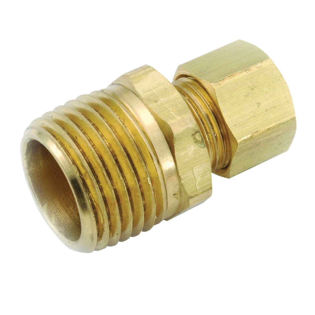 Picture of Anderson Metals 750068-0406 Connector, 1/4 in Compression, 3/8 in MPT