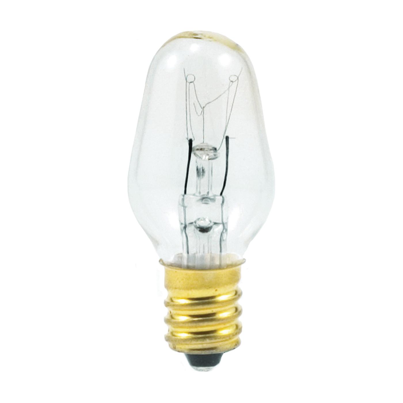 Picture of Sylvania 13543 Incandescent Lamp, 7 W, Candelabra E12 Lamp Base, 2850 K Color Temp, 3000 hr Average Life