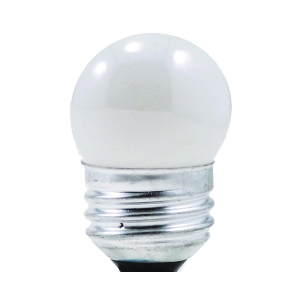 Picture of Sylvania 7.5W/SW/MED/NLITE Incandescent Lamp, 7.5 W, Candelabra E12 Lamp Base, 30 Lumens, 2850 K Color Temp