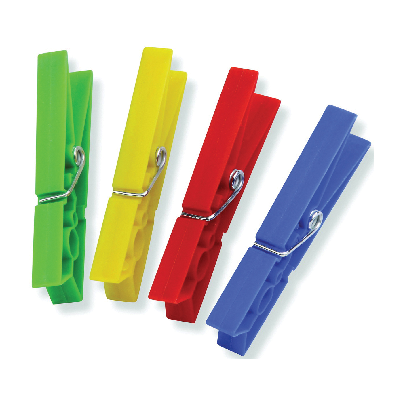 Picture of Honey-Can-Do DRY-01410 Classic Clothespin, 0.79 in W, 3.31 in L, Plastic, Blue/Green/Red/Yellow