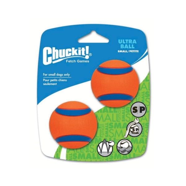 Picture of Chuckit! 17020 Ultra Ball Dog Toy, S, Rubber, Blue/Orange