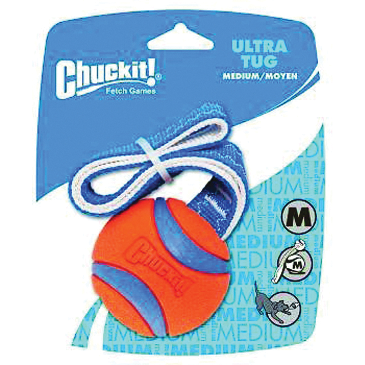 Picture of Chuckit! 231201 Ultra Tug Dog Toy, M, Nylon/Rubber, Blue/Orange