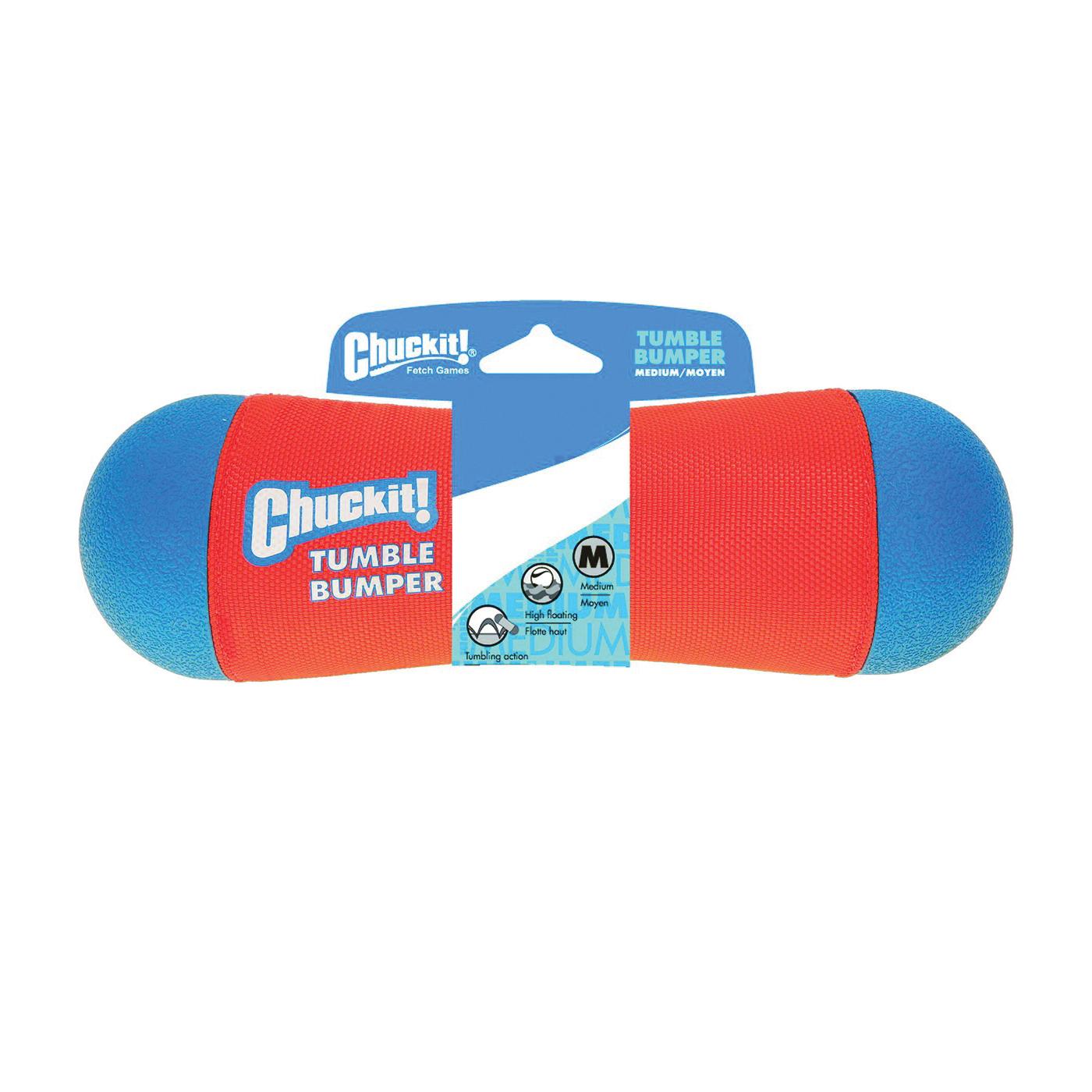 Picture of Chuckit! 184201 Tumble Bumper, M, Foam/Polyester/Rubber, Blue/Orange