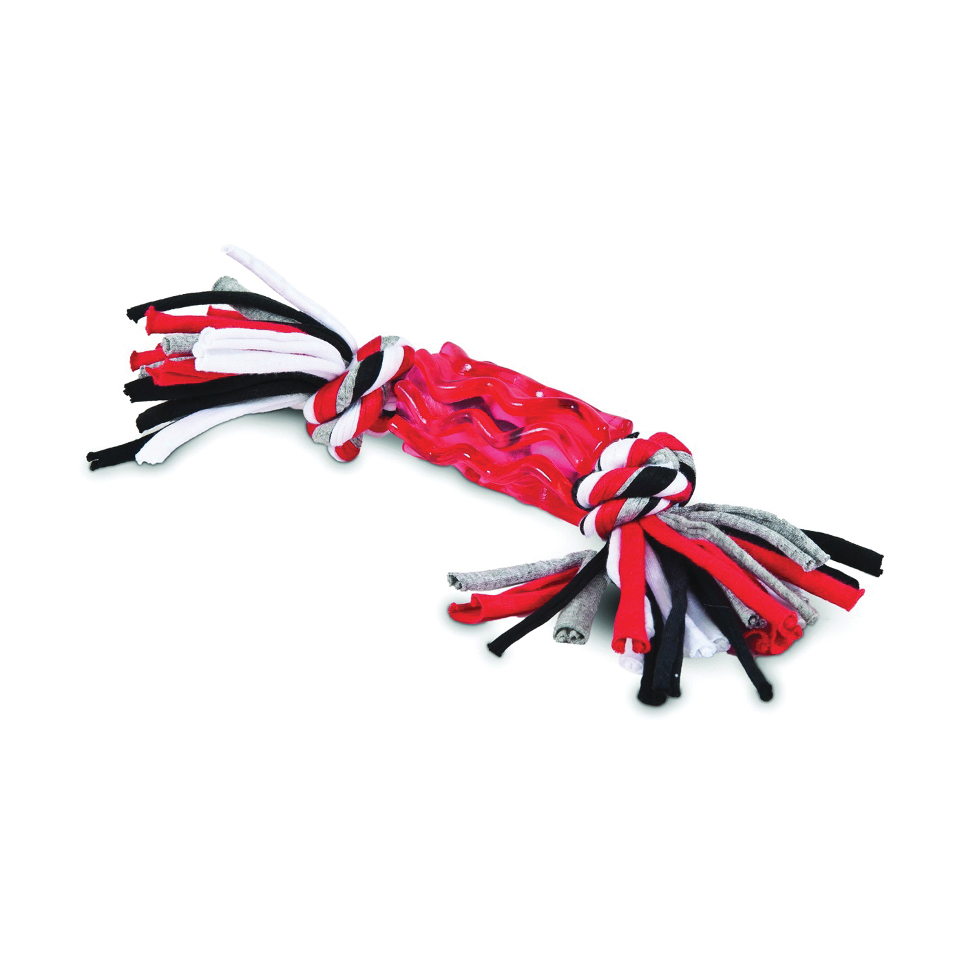 Picture of DOGZILLA 30891 Dog Toy, M, Snarl Tug Toy, Black/Red