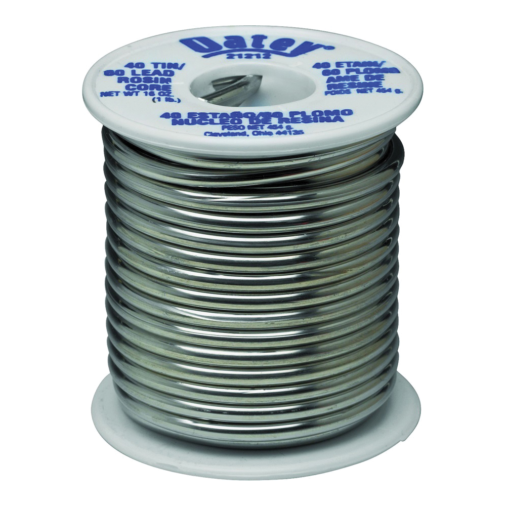 Picture of Oatey 21212 Rosin Core Solder, 1 lb Package, Solid, Silver, 361 to 460 deg F Melting Point