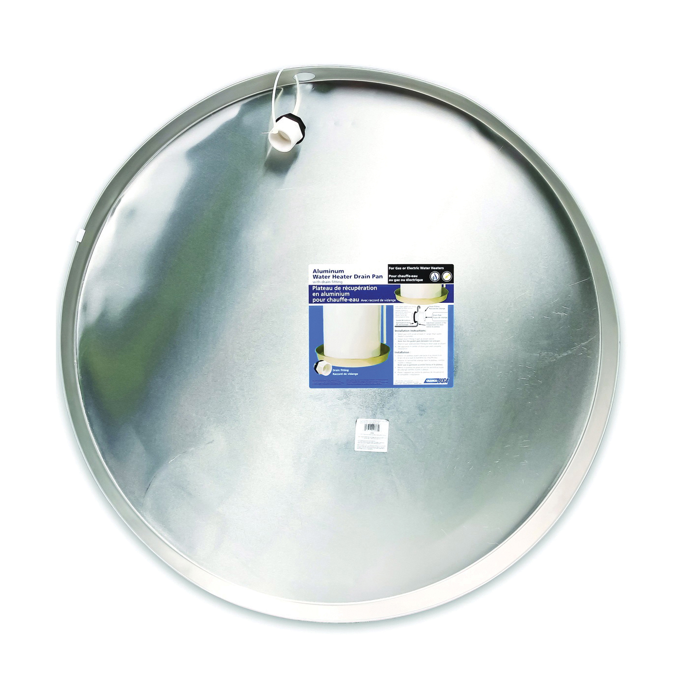 Picture of CAMCO 20868 Water Heater Drain Pan, Recyclable, Aluminum, For: Gas or Electric Water Heaters