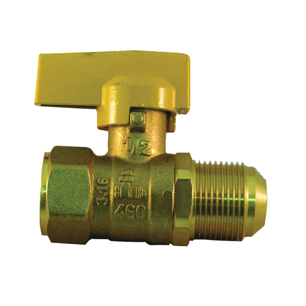 Picture of PRO-FLEX PFGV-FFL121516B Gas Valve, 1/2 x 15/16 in Connection, FIP x Flare