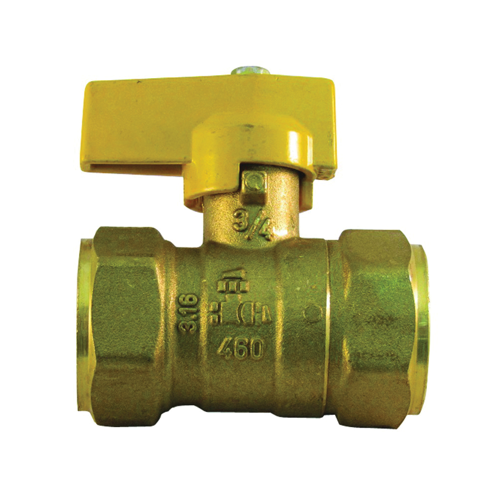 Picture of PRO-FLEX PFGV-F34B Gas Valve, 3/4 in Connection, FIP x Flare
