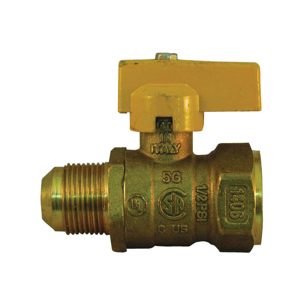 Picture of PRO-FLEX PFGV-FFL3458B Gas Valve, 3/4 x 5/8 in Connection, FIP x Flare