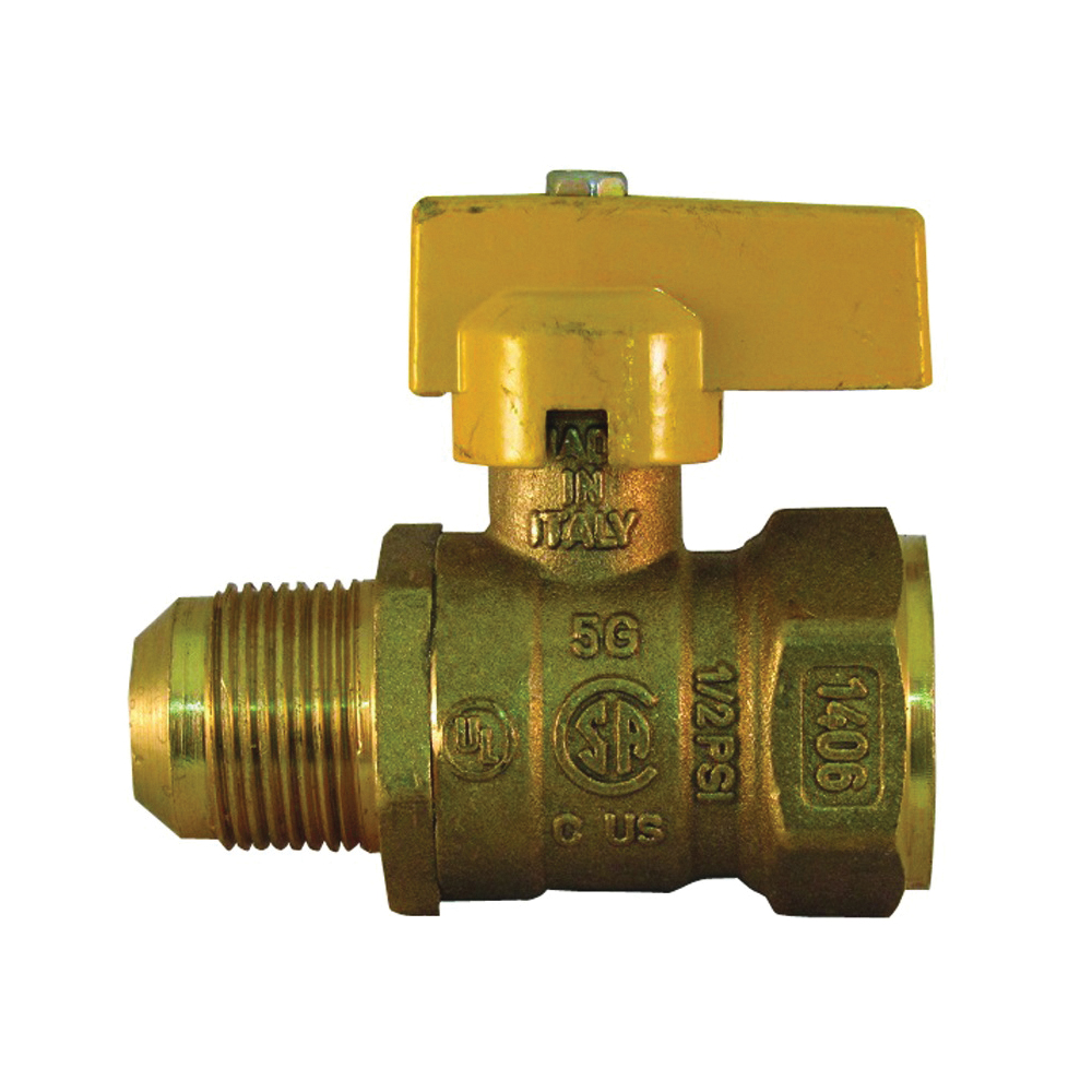 Picture of PRO-FLEX PFGV-FFL341516B Gas Valve, 3/4 x 15/16 in Connection, FIP x Flare