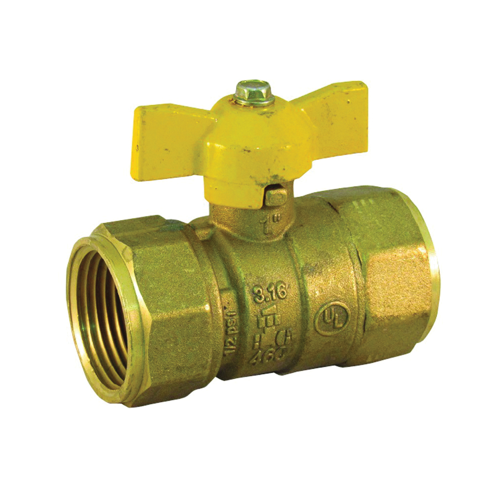 Picture of PRO-FLEX PFGV-F01TP Gas Valve, 1 in Connection, FIP