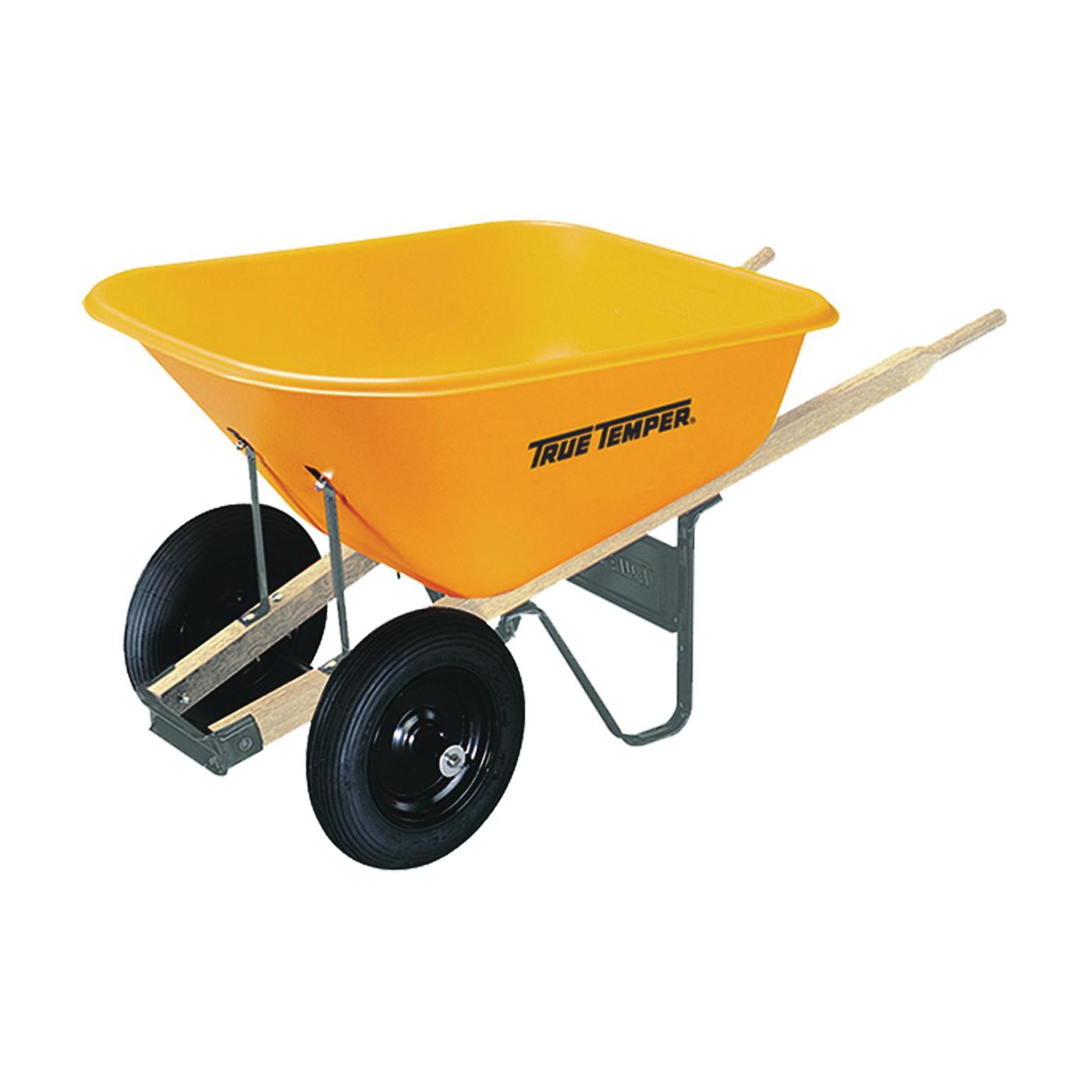 Picture of TRUE TEMPER 009908VB Wheelbarrow Tray, 8 cu-ft Capacity, Poly, Yellow