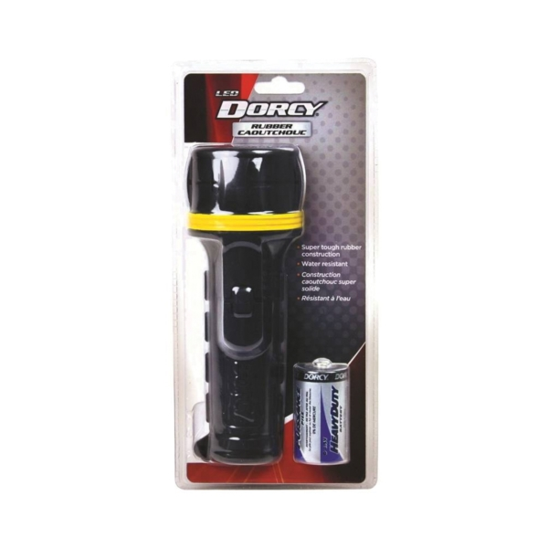 Picture of Dorcy 41-2965 Flashlight, D Battery, LED Lamp, Black