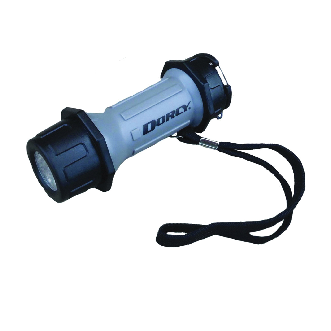 Picture of Dorcy 41-2602 Flashlight, AAA Battery, LED Lamp, 42 Lumens, 32 m Beam Distance, 15 hr Run Time, Gray