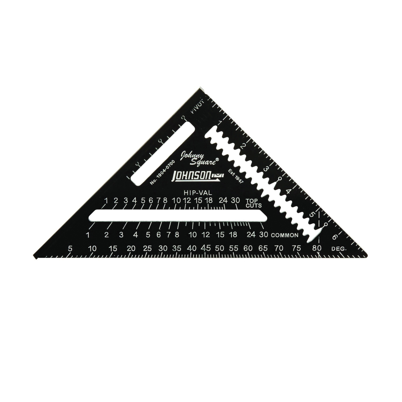 Picture of Johnson 1904-0700 Rafter Square, Aluminum, 7 in L