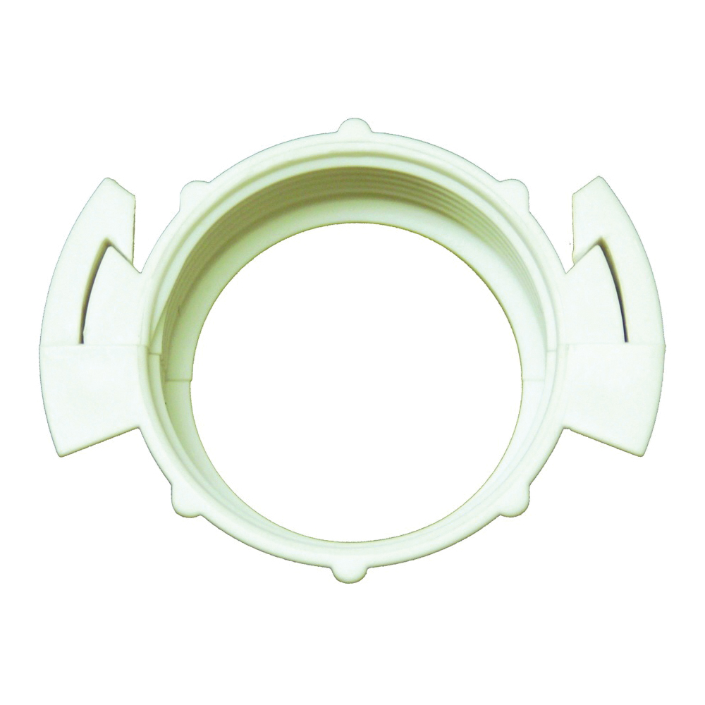 Picture of Plumb Pak PP9255SPLT Split Wing Nut, Plastic, White, For: Existing Brass, Existing Plastic, Kitchen and Bath Fixtures