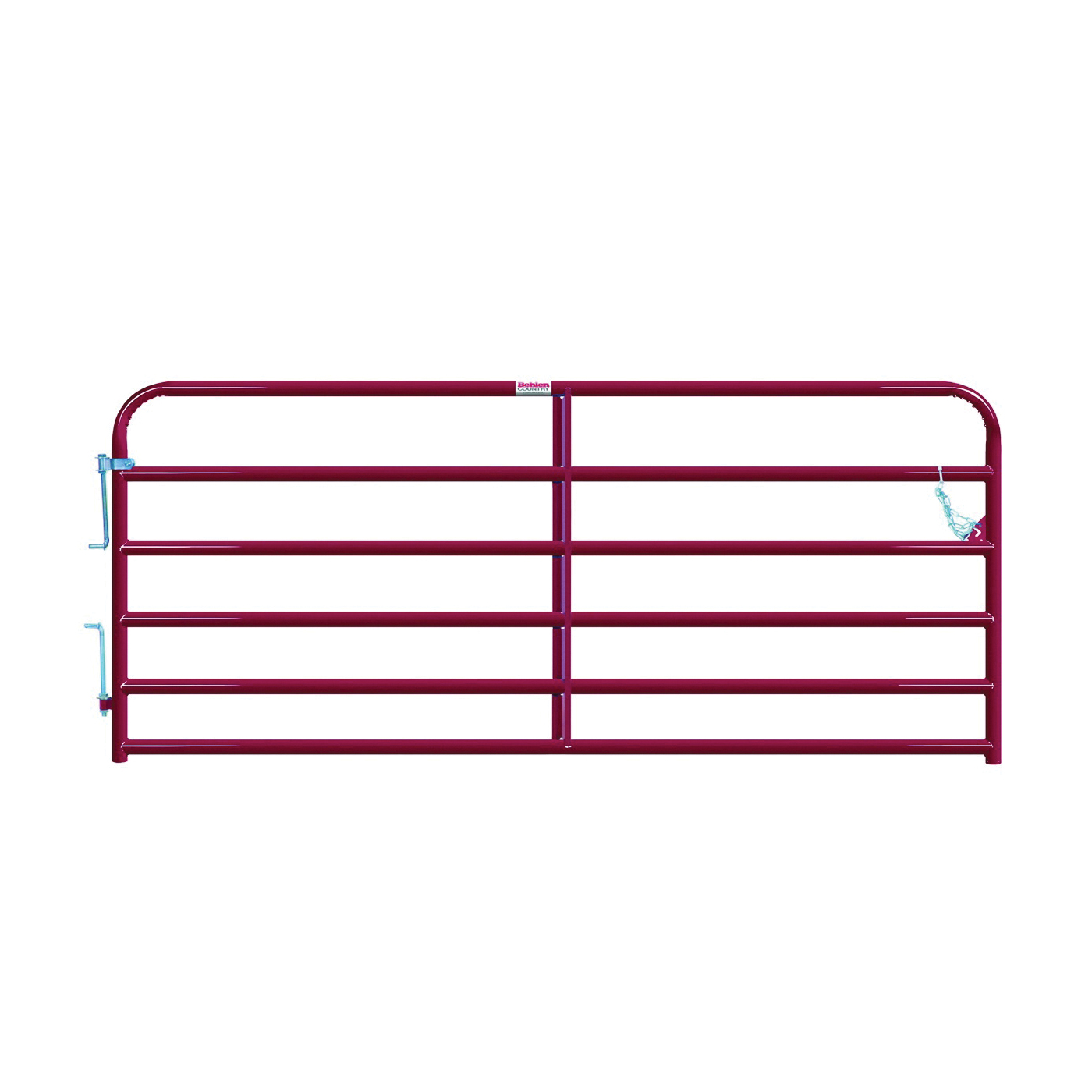 Picture of Behlen Country 40120101 Bull Gate, 120 in W Gate, 50 in H Gate, 16 ga Frame Tube/Channel, Steel Frame, Red