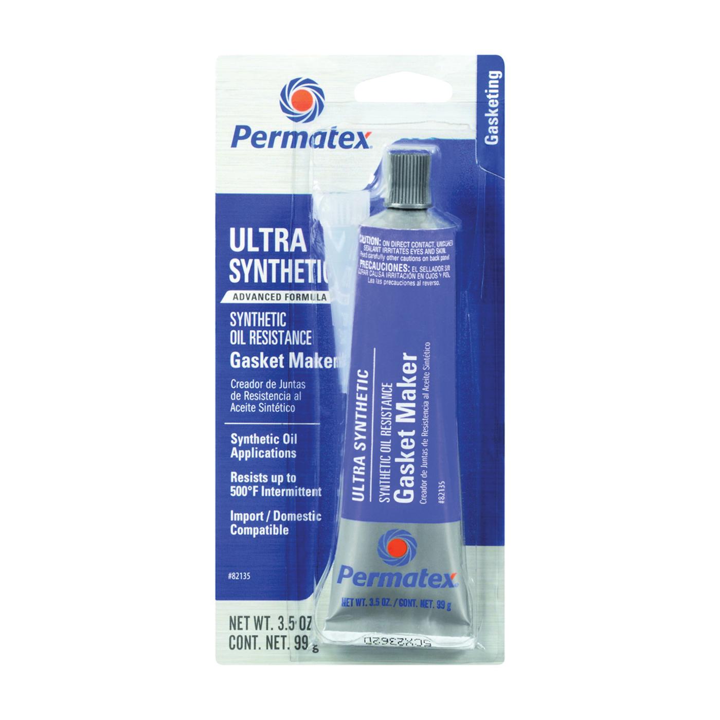 Picture of Permatex 82135 Gasket Maker, 3.5 oz Package, Tube, Paste, Mild