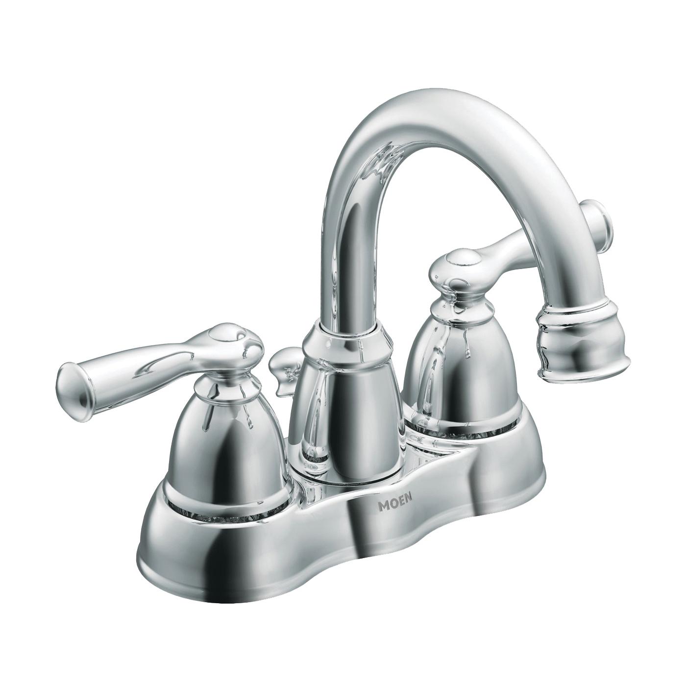 Picture of Moen Banbury WS84913SRN Bathroom Faucet, 1.2 gpm, 2-Faucet Handle, Metal, Brushed Nickel, Lever Handle
